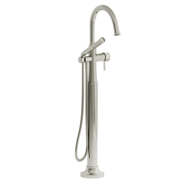 Riobel MMRD39LPN - 2-way Type T  floor-mount tub filler with hand shower