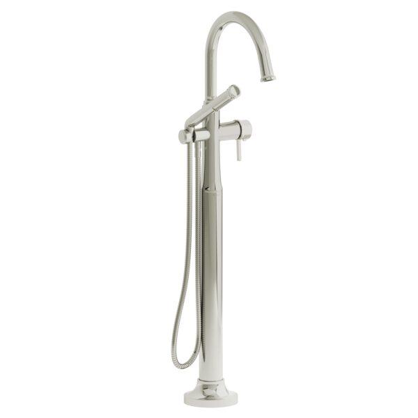 Riobel MMRD39LPN-EX - 2-way Type T  floor-mount tub filler with hand shower