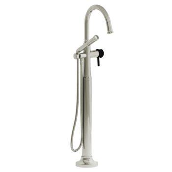 Riobel MMRD39LPNBK – 2-way Type T  floor-mount tub filler with hand shower