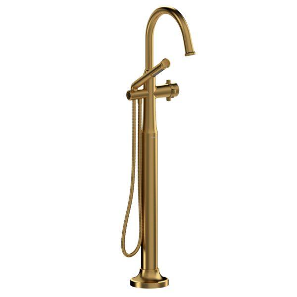 Riobel MMRD39XBG-EX - 2-way Type T  floor-mount tub filler with hand shower