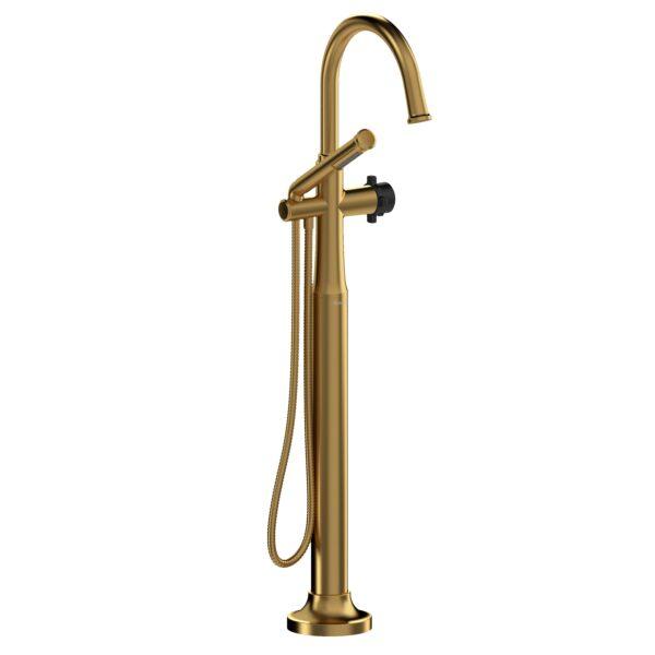 Riobel MMRD39XBGBK - 2-way Type T  floor-mount tub filler with hand shower