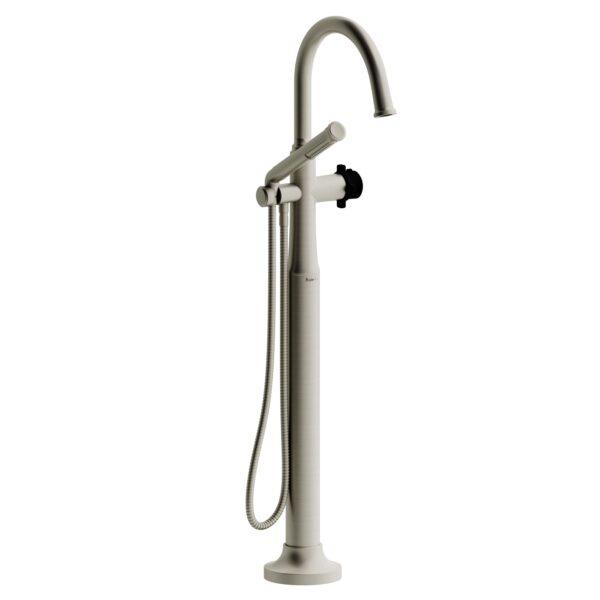 Riobel MMRD39XBNBK-EX - 2-way Type T  floor-mount tub filler with hand shower