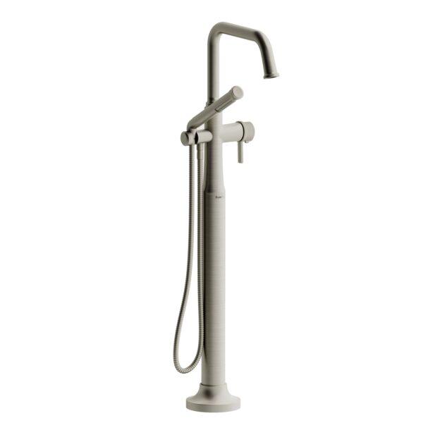 Riobel MMSQ39JBN-EX - 2-way Type T  floor-mount tub filler with hand shower