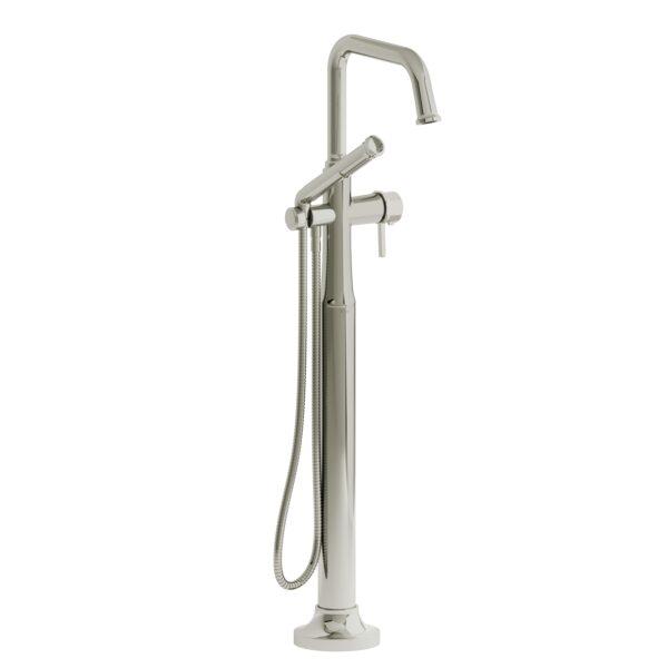Riobel MMSQ39LPN - 2-way Type T  floor-mount tub filler with hand shower