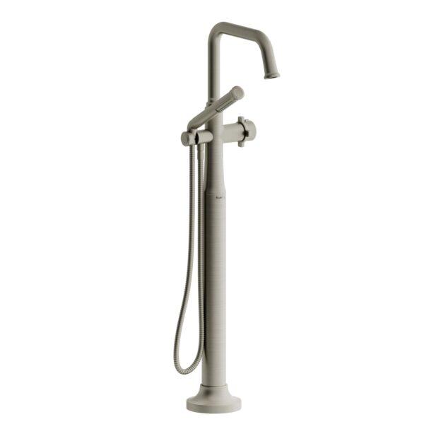 Riobel MMSQ39XBN - 2-way Type T  floor-mount tub filler with hand shower