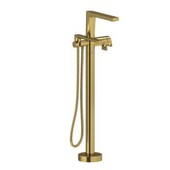 Riobel OD39BG – 2-way Type T  floor-mount tub filler with hand shower
