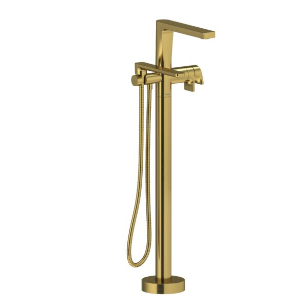 Riobel OD39BG - 2-way Type T  floor-mount tub filler with hand shower