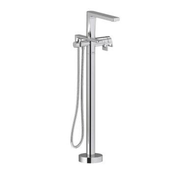 Riobel OD39C – 2-way Type T  floor-mount tub filler with hand shower