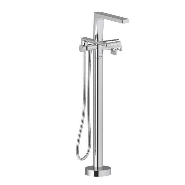 Riobel OD39C - 2-way Type T  floor-mount tub filler with hand shower