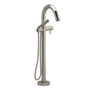 Riobel PA39BN – 2-way Type T  floor-mount tub filler with hand shower