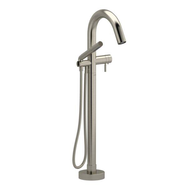 Riobel PA39BN - 2-way Type T  floor-mount tub filler with hand shower