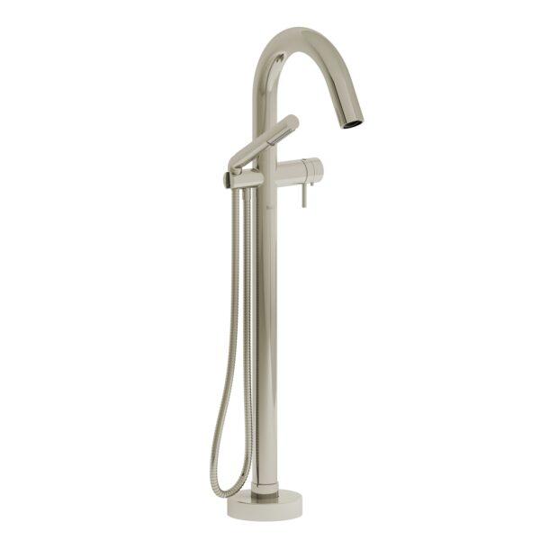 Riobel PA39PN-EX - 2-way Type T  floor-mount tub filler with hand shower