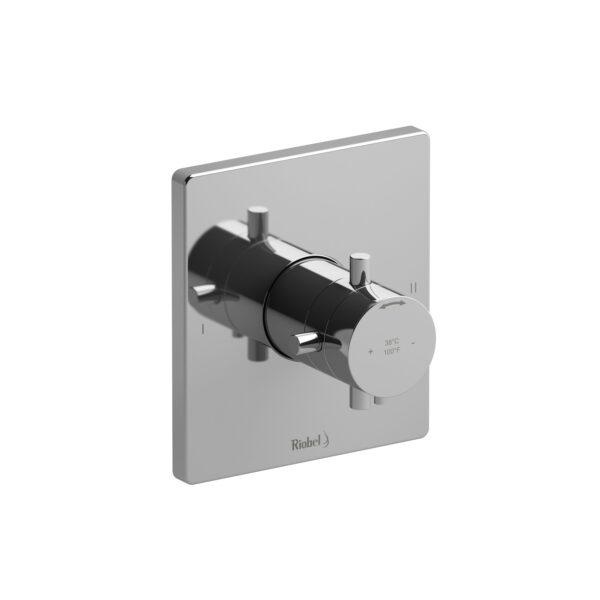 Riobel PATQ44+C - 2-way no share Type T/P complete valve