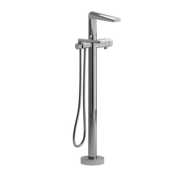 Riobel PB39C - 2-way Type T  floor-mount tub filler with hand shower