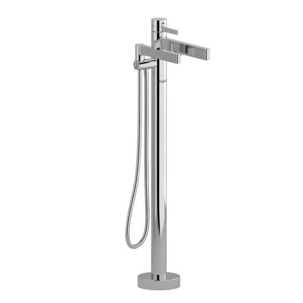Riobel PX39C - 2-way Type T  floor-mount tub filler with hand shower