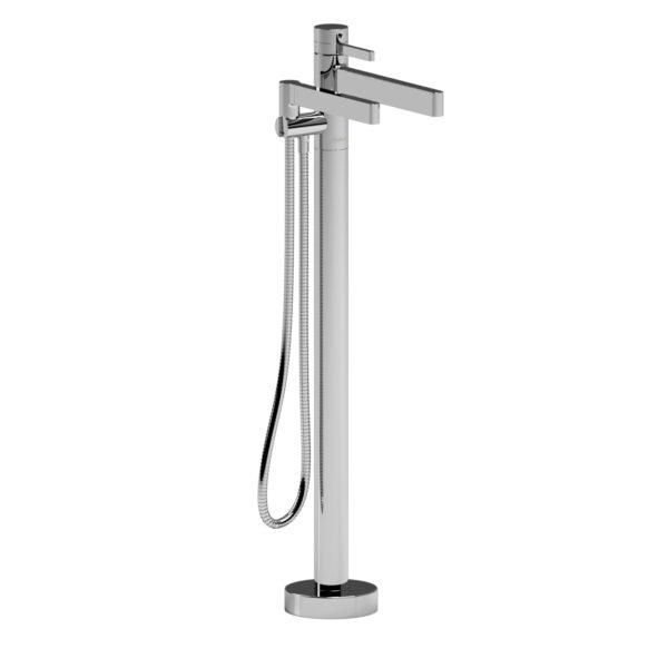 Riobel PX39C-EX - 2-way Type T  floor-mount tub filler with hand shower