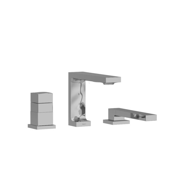 Riobel RF19C - 2-way 3-piece Type T  deck-mount tub filler with hand shower