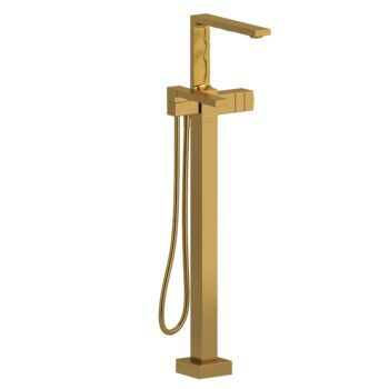 Riobel RF39BG – 2-way Type T  floor-mount tub filler with hand shower