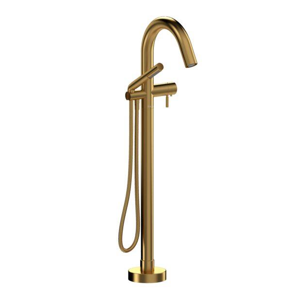Riobel RU39BG-EX - 2-way Type T  floor-mount tub filler with hand shower