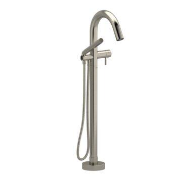 Riobel RU39BN – 2-way Type T  floor-mount tub filler with hand shower