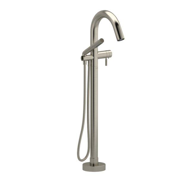 Riobel RU39KNBN - 2-way Type T  floor-mount tub filler with hand shower