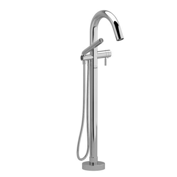 Riobel RU39KNC - 2-way Type T  floor-mount tub filler with hand shower