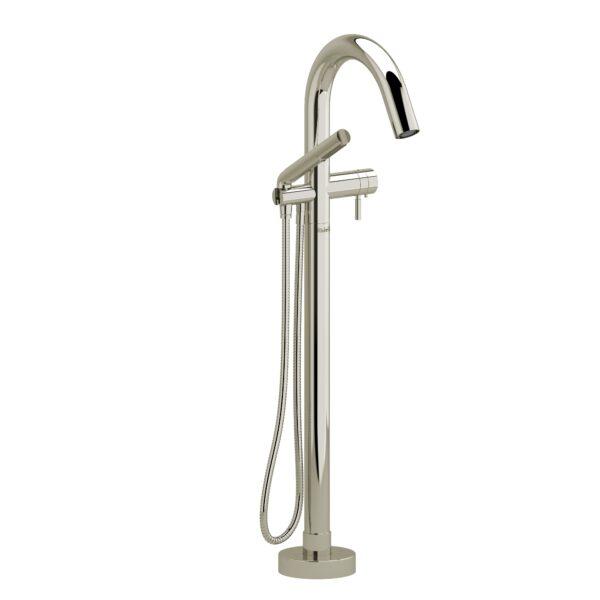 Riobel RU39PN - 2-way Type T  floor-mount tub filler with hand shower