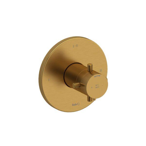 Riobel RUTM23+KNBG - 2-way Type T/P coaxial complete valve