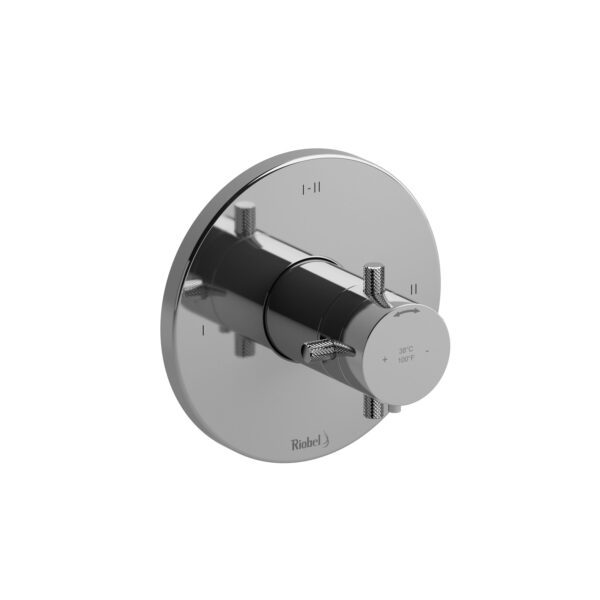 Riobel RUTM23+KNC - 2-way Type T/P coaxial complete valve