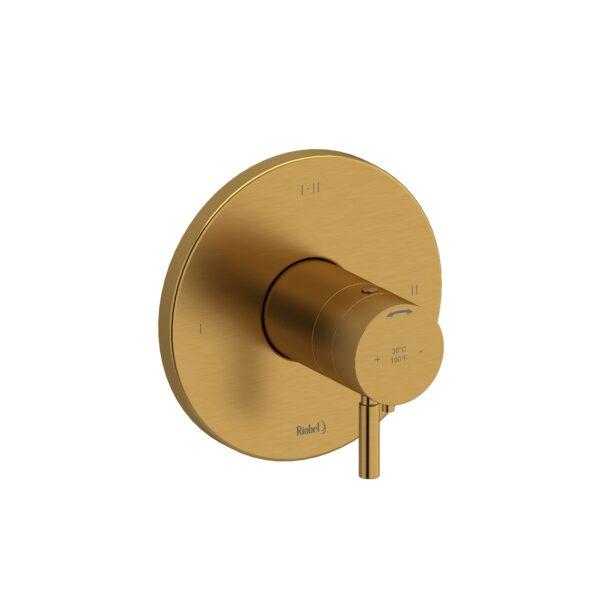 Riobel RUTM23BG - 2-way Type T/P coaxial complete valve