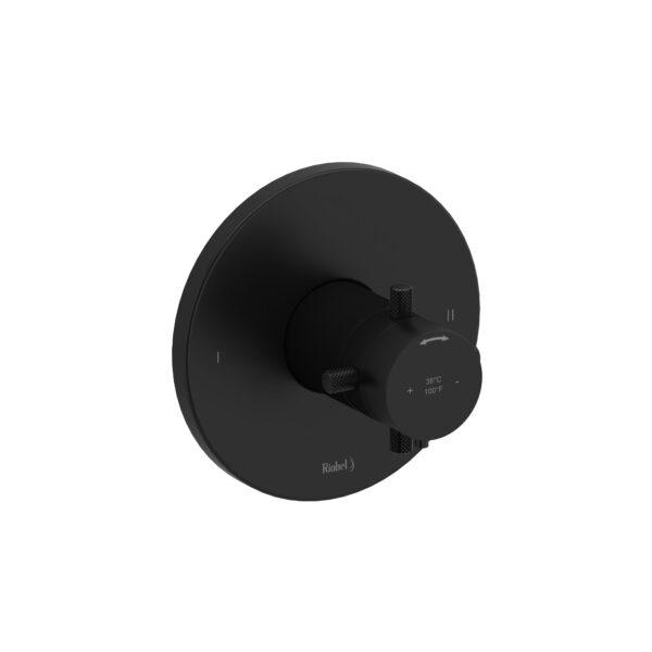 Riobel RUTM44+KNBK - 2-way no share Type T/P complete valve