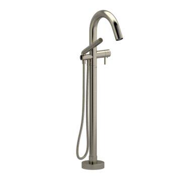 Riobel SY39BN – 2-way Type T  floor-mount tub filler with hand shower