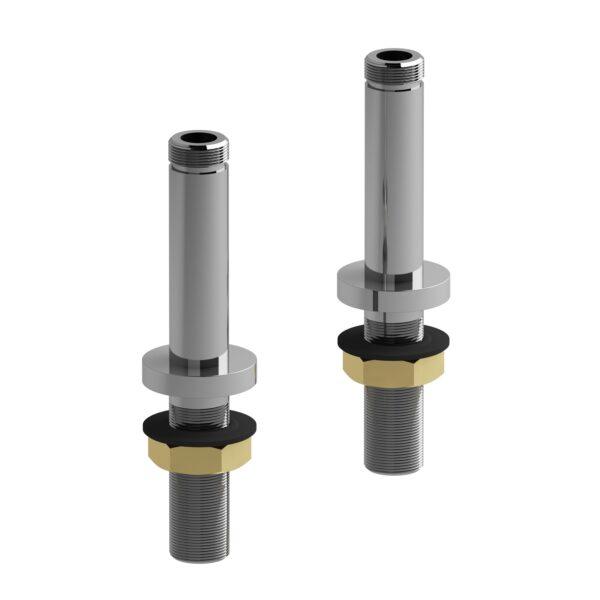 """Riobel TU04C - 10 cm (4"""") deck-mount riser pair"""