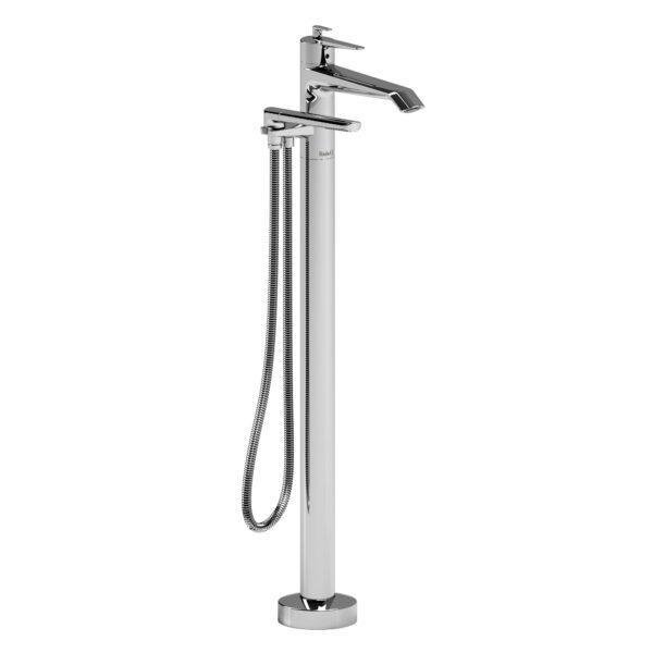 Riobel VY39C - 2-way Type T  floor-mount tub filler with hand shower