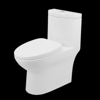 Toilet 1pc Elongated Right Height  – White