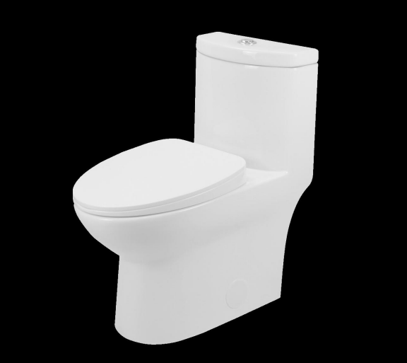 Toilet 1pc Elongated Right Height  - White