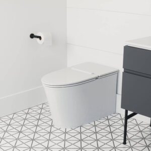 Studio S Right Height Elongated Low-Profile Toilet with Seat